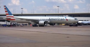 The new livery speaks of a possible merger between American and US Airways.