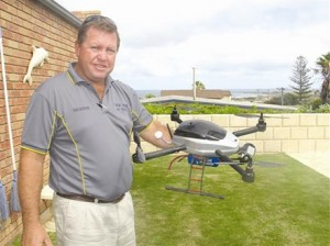 This 4-rotor UAV helo designed to aid farmers was featured on FarmWeekly.com.