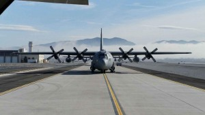 The C-130 is the chariot of choice for modern Airborne students.