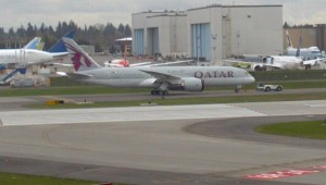 Qatar Airways provides the only 787 service to England currently.
