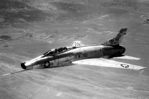 This is a picture of an F-100, the same type of jet Bud Day was flying when he got shot down.