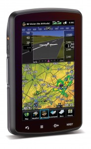 The Garmin aera796 3-D view is almost like a flight-sim version of your plane, as you fly.